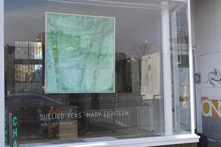 Acidification 4 in ONCA GALLERY window