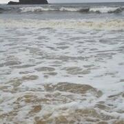 Incoming Tide at Talisker Beach showing the Stack