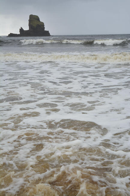Tide and The Stack at Talisker Bay